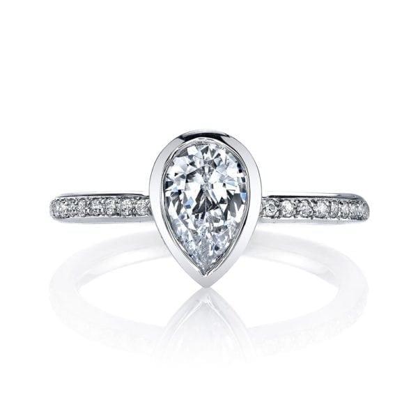 26704D Diamond Engagement Ring 0.12 Ctw.