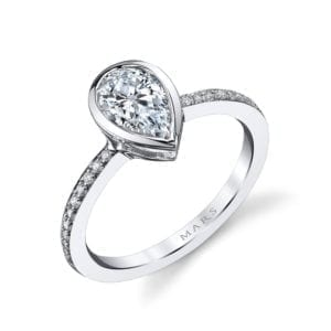 26704D Diamond Engagement Ring 0.12 Ctw.