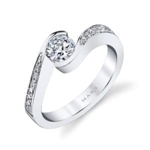 28173 Diamond Engagement Ring 0.13 Ctw.