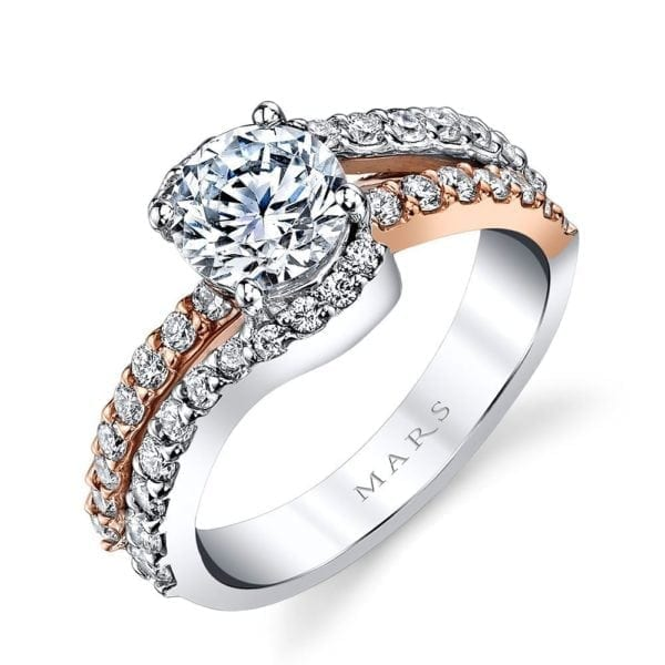 MARS A14 Diamond Engagement Ring 0.66 Ctw.