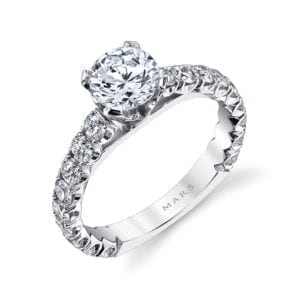 MARS R245 Diamond Engagement Ring, 1.28 Ctw.