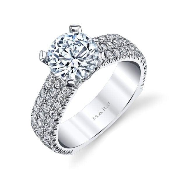 MARS R247 Diamond Engagement Ring, 1.25 Ctw.