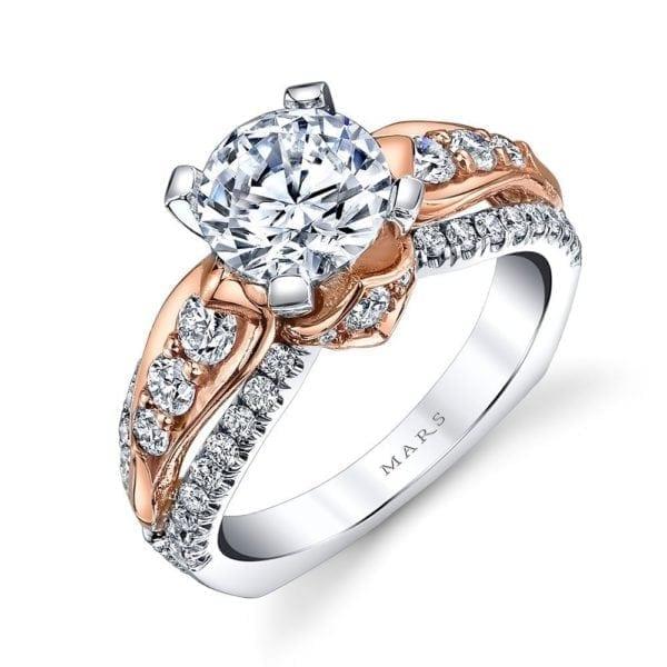 MARS R253 Diamond Engagement Ring, 0.82 Ctw.