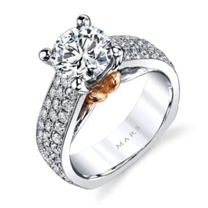 MARS R264 Diamond Engagement Ring, 1.37 Ctw.