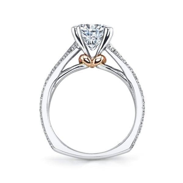 MARS R266 Engagement Ring  0.78 Ct Pr, 0.40 Ct Rd.