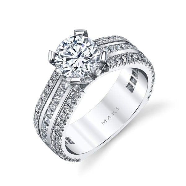 MARS R281 Engagement Ring 0.66 Ct Pr, 0.55 Ct Rd.