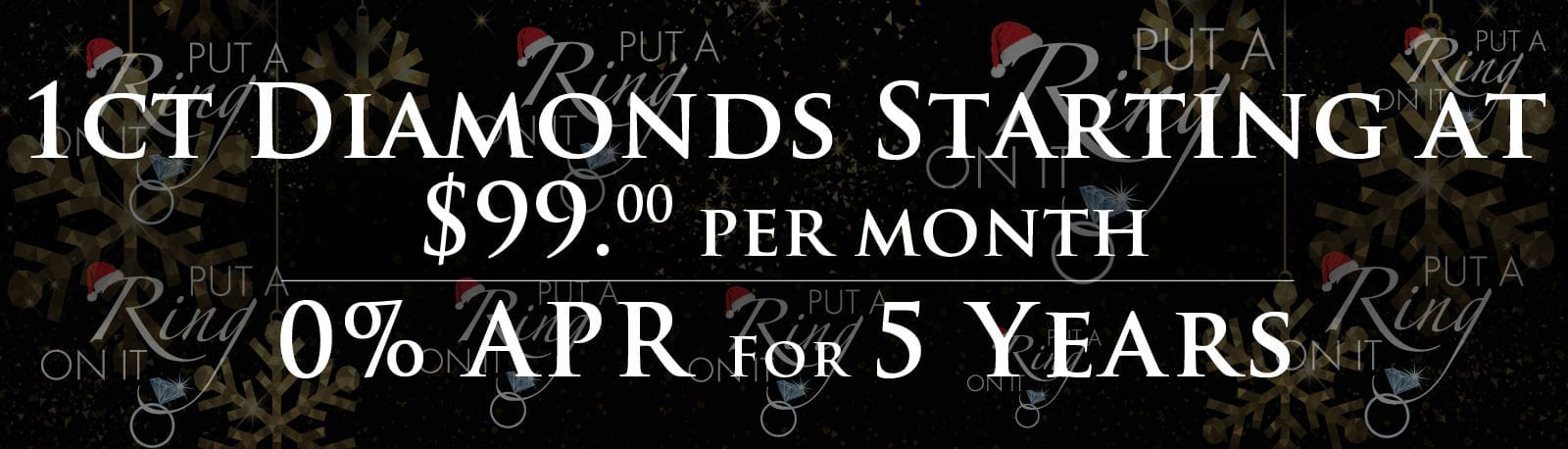 1CT Diamonds Starting at $99 per month